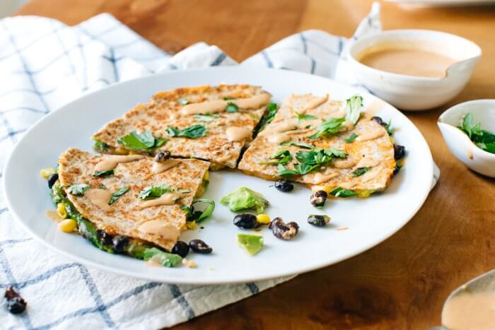 Chipotle quesadilla with avocado and black beans | Vegetarian quesadill