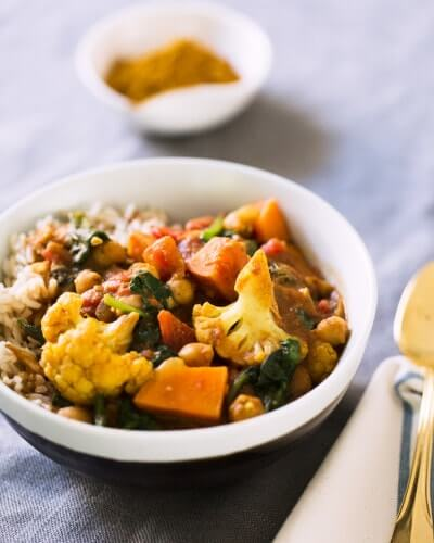 Cauliflower and Tomato Coconut Curry