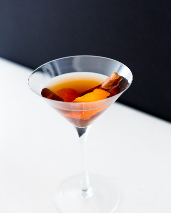Apple cider bourbon cocktail