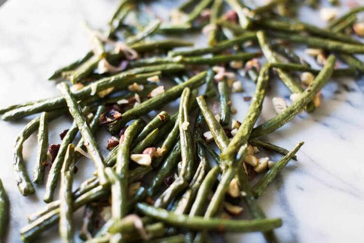 Roasted Green Beans with Hazelnuts | A Couple Cooks