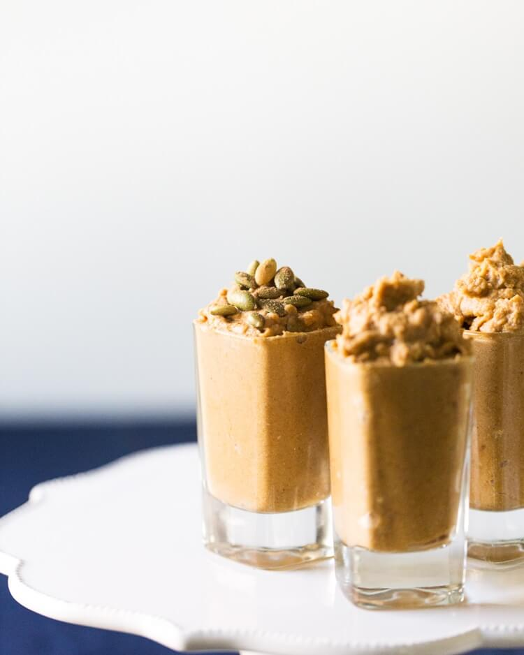 Pumpkin Pie Mousse Shooters | A Couple Cooks