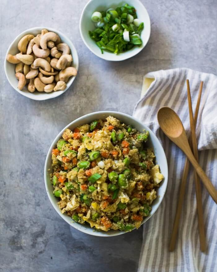 Cauliflower Fried Rice | A Couple Cooks
