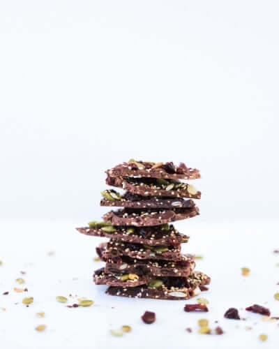 Dark Chocolate Cherry Quinoa Bark (Gluten-Free)