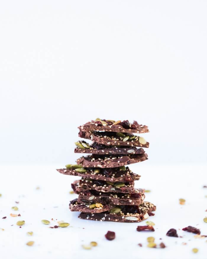 Cherry Quinoa Chocolate Bark