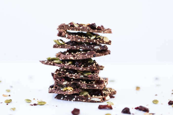 Dark Chocolate Cherry Quinoa Bark | A Couple Cooks