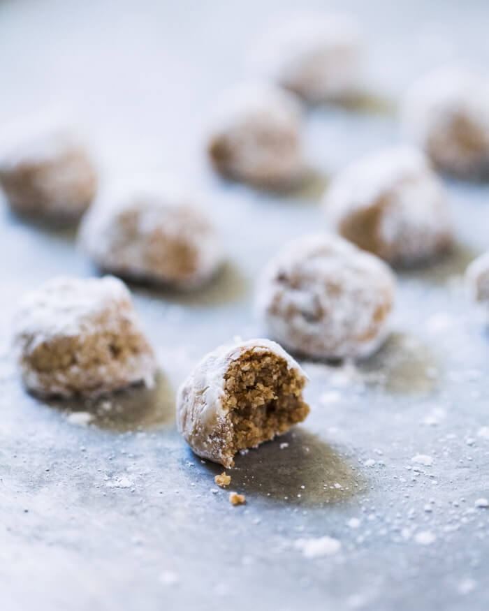 Chai-Spiced Snowball Cookies (Gluten-Free) | A Couple Cooks