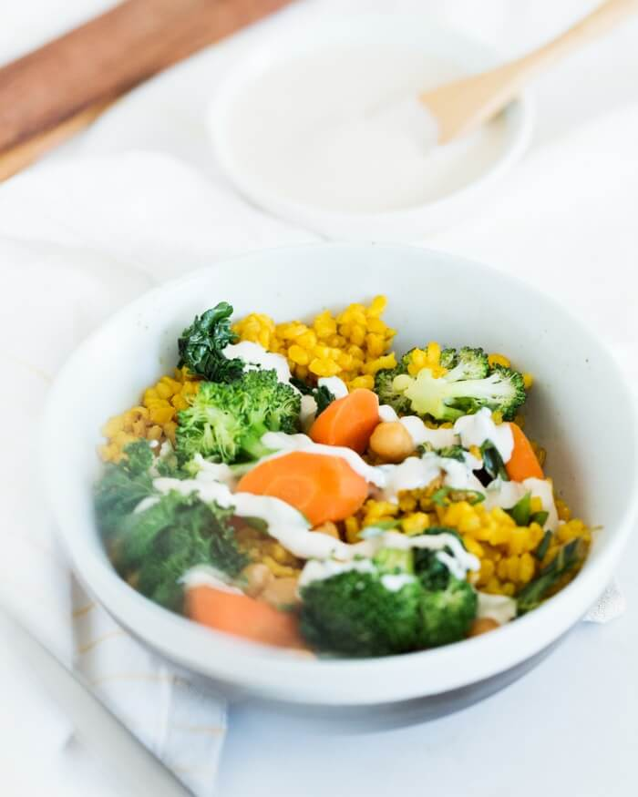 nd Turmeric Yellow Rice Bowls | A Couple Cooks