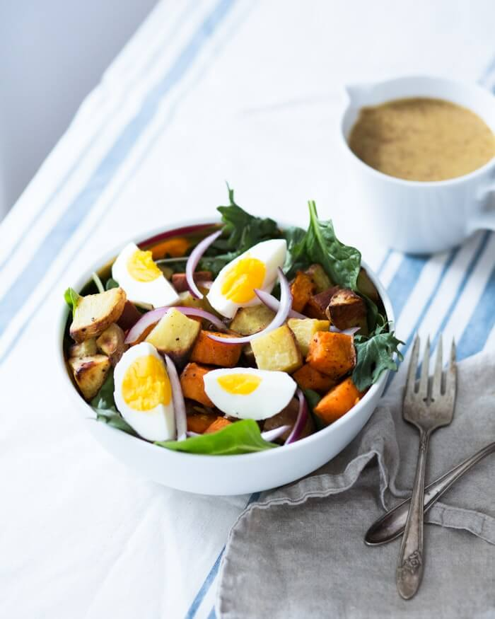 Healthy Potato Salad with Hard-boiled Egg