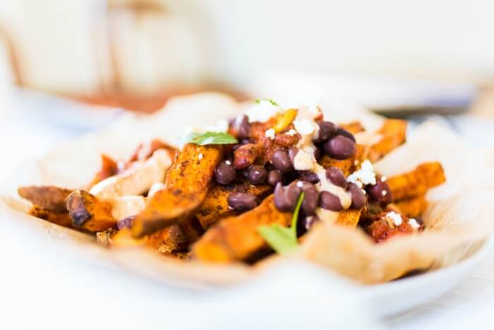 Loaded Mexican Fries with Sweet Potatoes | Sweet potato recipes