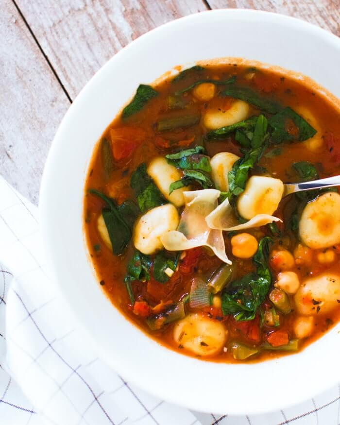 Italian Soup with Chickpeas & Gnocchi