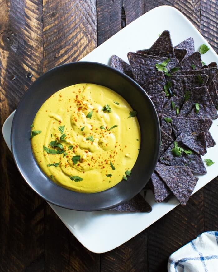 Vegan Queso Dip | Healthy queso dip
