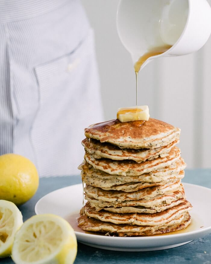 Lemon Poppy Seed Oat Pancakes | Mother's Day Recipes