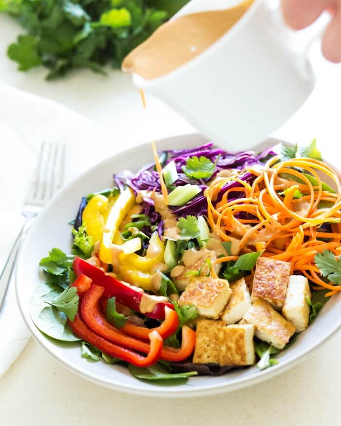 Thai Salad with Peanut Sauce Dressing | A Couple Cooks