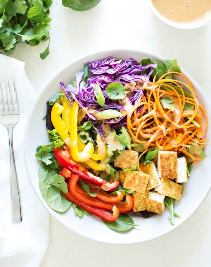Thai Salad with Peanut Sauce Dressing