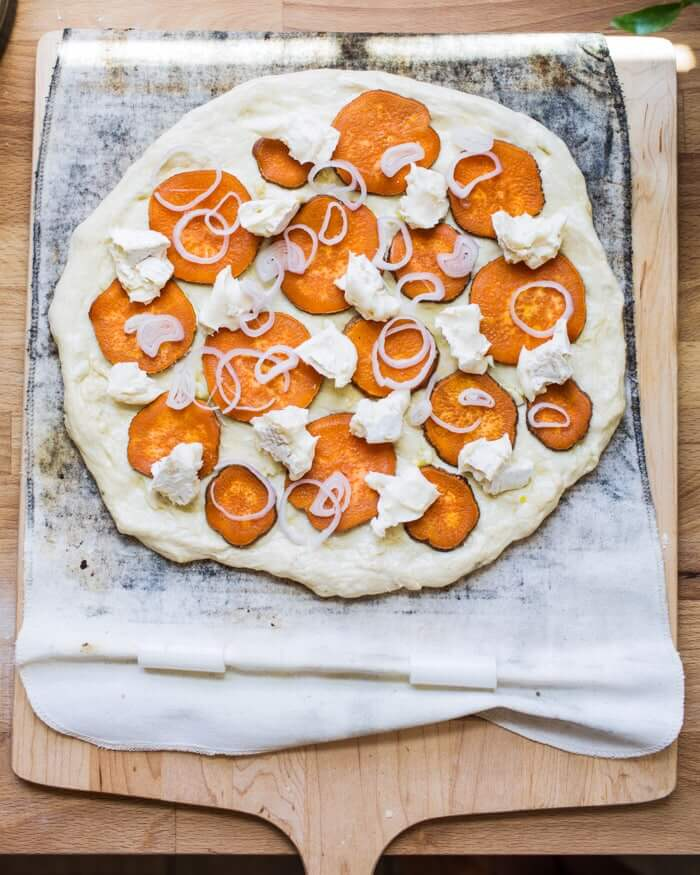 Sweet Potato Pizza with Brie