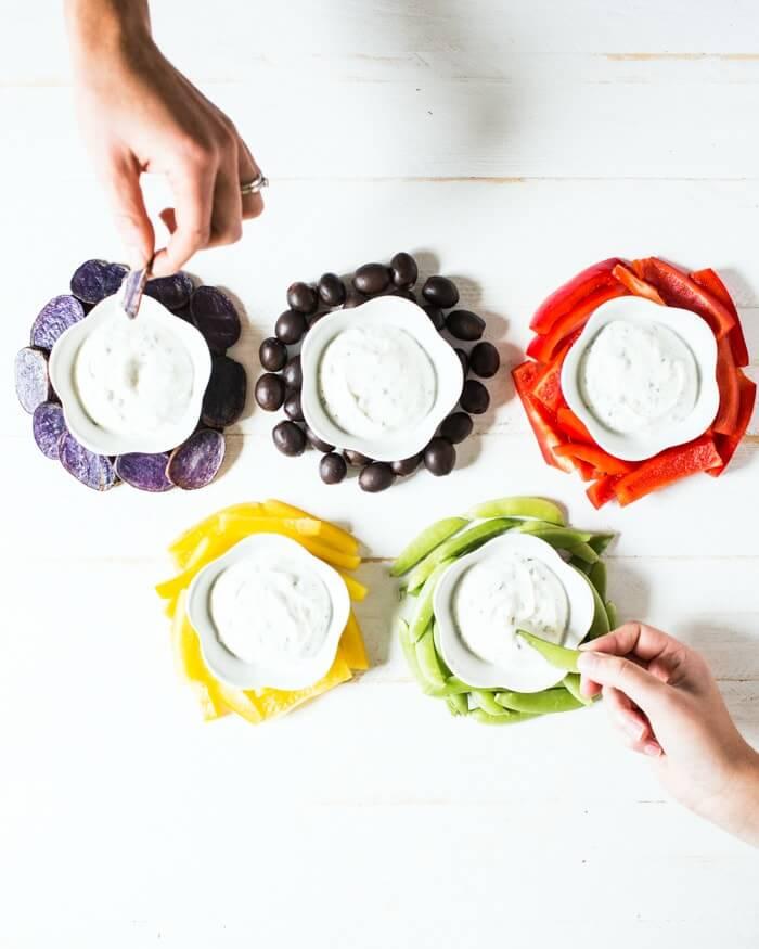 Greek yogurt chive dip