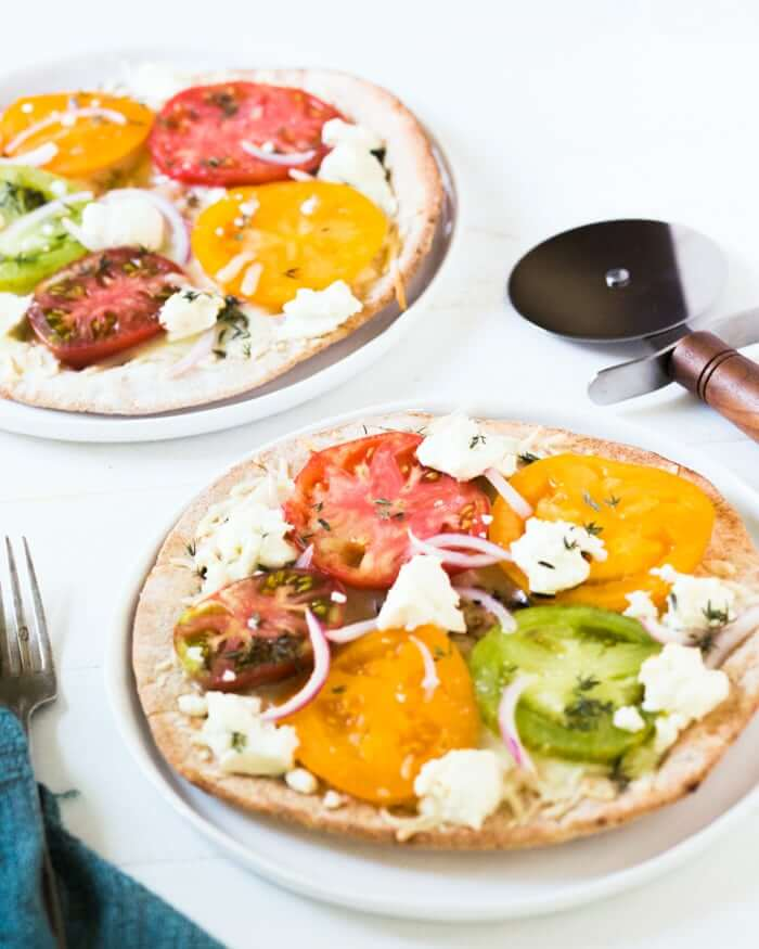 Healthy Pita Pizza With Goat Cheese A Couple Cooks