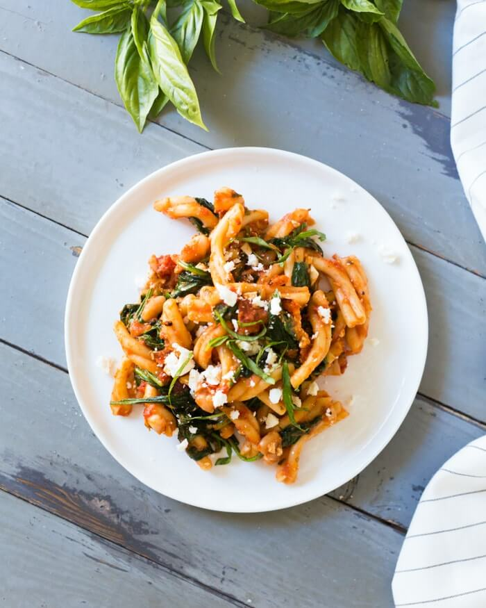 Fire Roasted Tomato and Feta Pasta