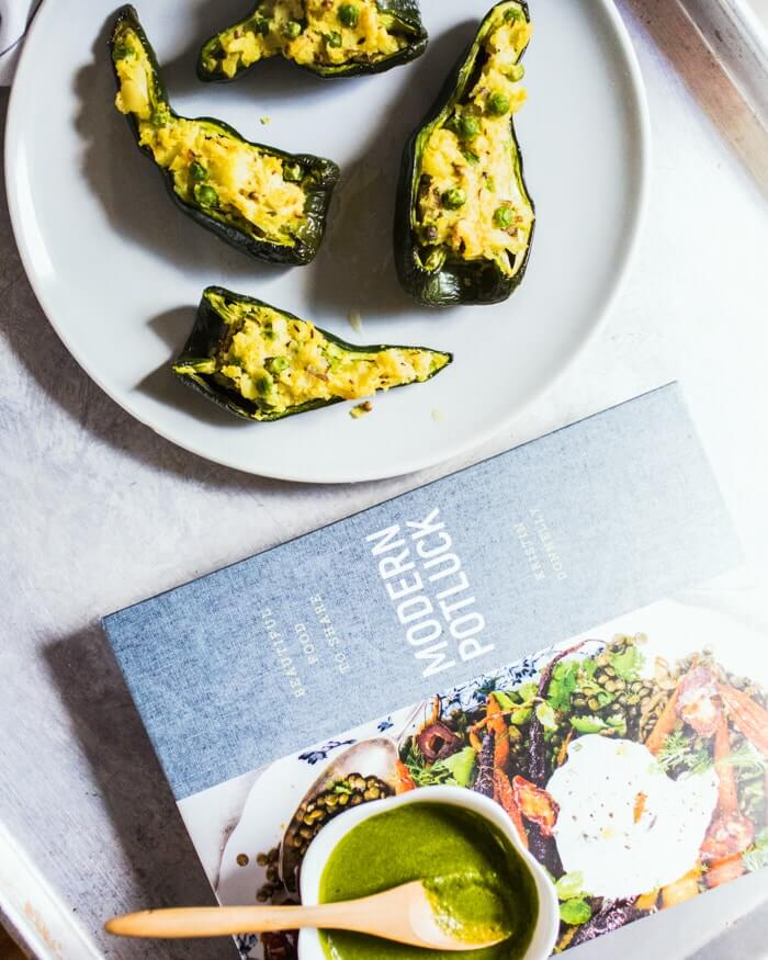 Samosa Stuffed Poblano Peppers | A Couple Cooks