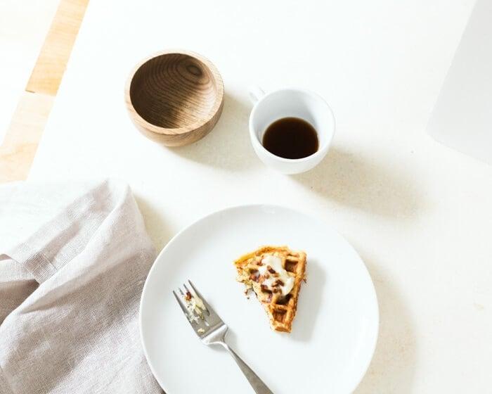 Cornbread Waffles with Maple Mascarpone