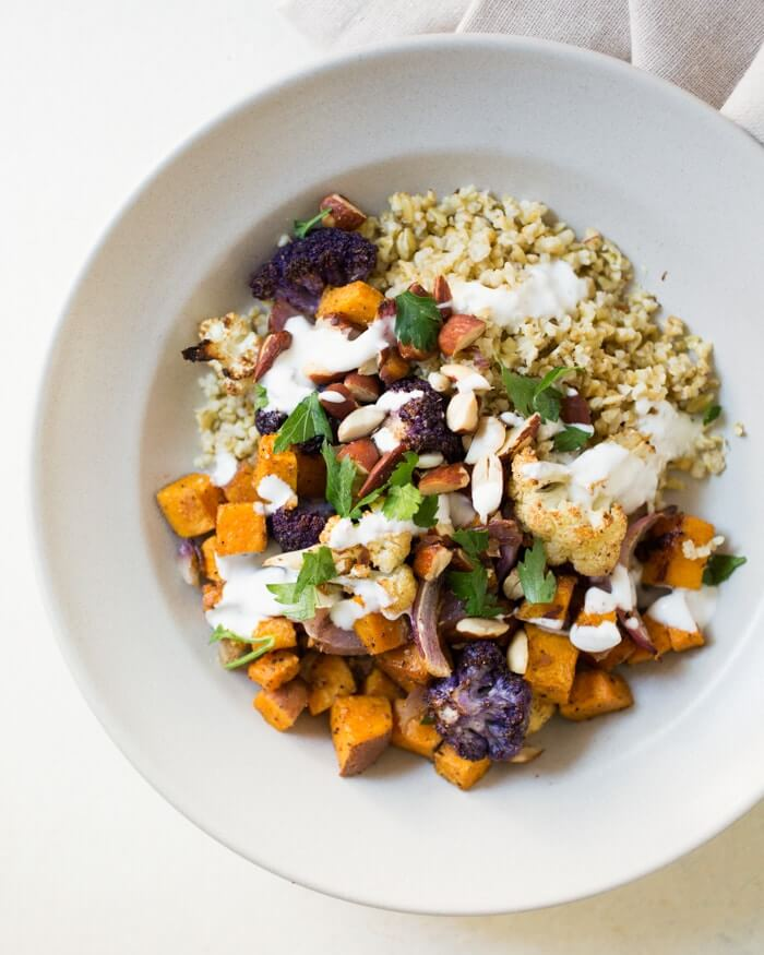 Grain Bowl with Roasted Fall Vegetables