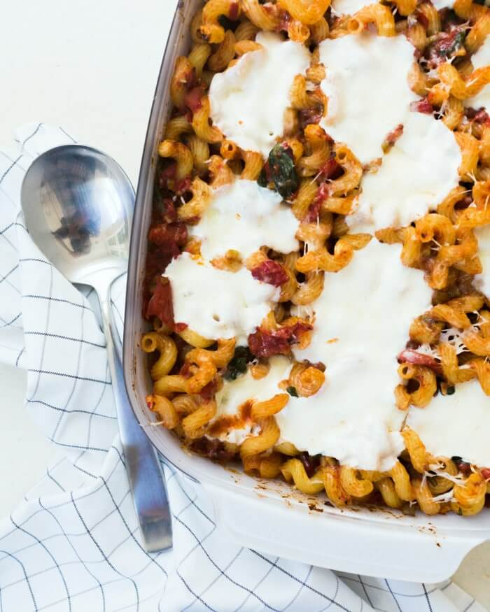 Pasta bake with awesome sauce