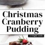 Christmas Cranberry Pudding
