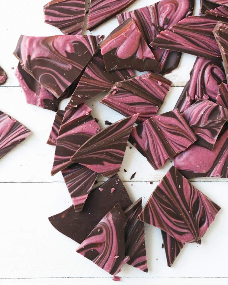 Pink swirl chocolate bark