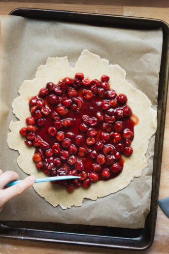 Tart Cherry Chocolate Galette   A Couple Cooks
