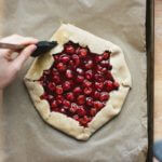 Tart Cherry Chocolate Galette | A Couple Cooks