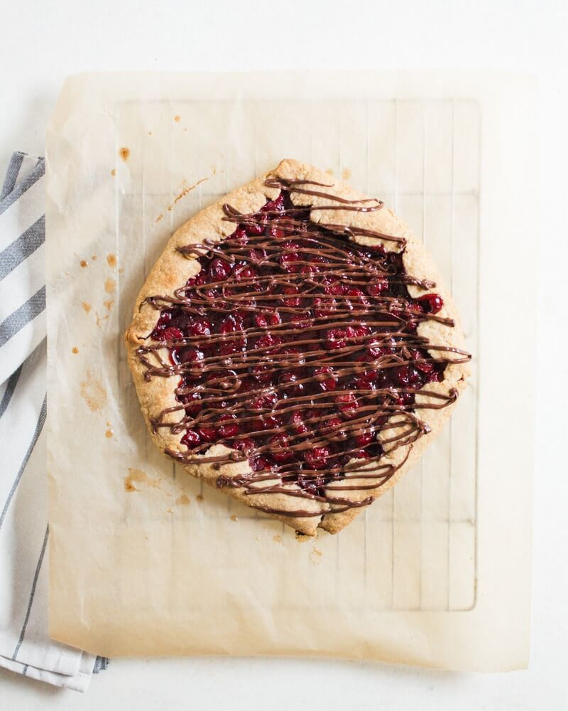 Chocolate Cherry Galette | Chocolate cherry desserts