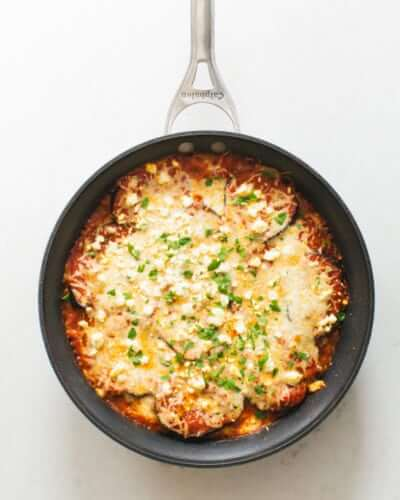 Skillet Eggplant Marinara | A Couple Cooks
