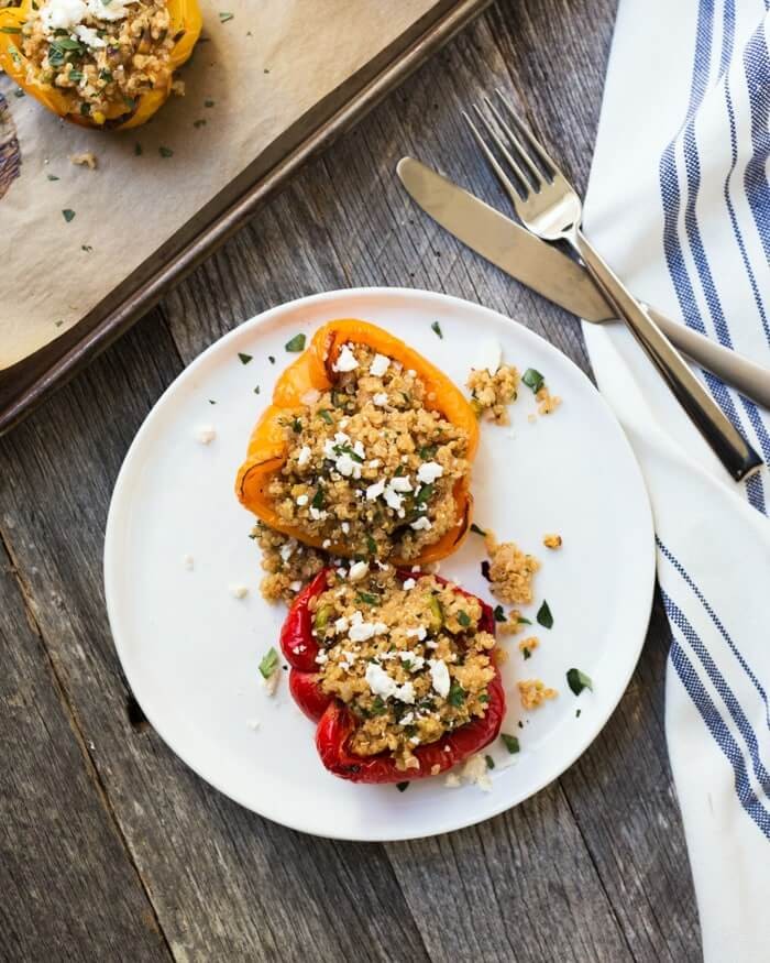 Vegetarian Quinoa Stuffed Peppers Recipe