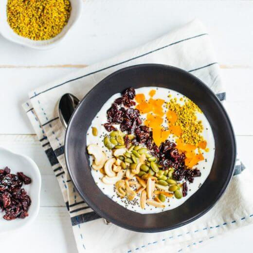 Tart Cherry Post Workout Protein Bowl | A Couple Cooks