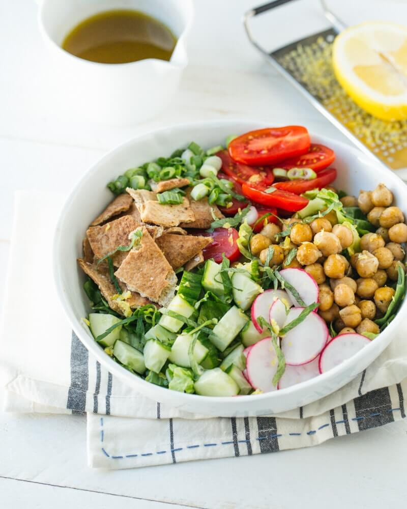 Chickpea Fattoush Salad Bowl | What is fattoush?