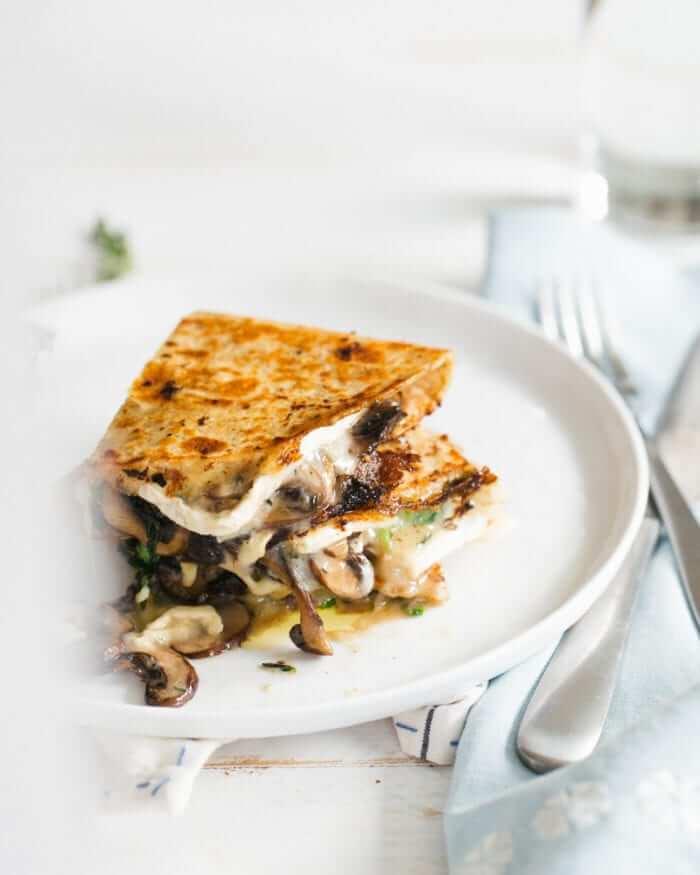Mushroom and Brie Quesadillas | Quesadilla ideas