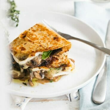 Mushroom and Brie Quesadillas | A Couple Cooks