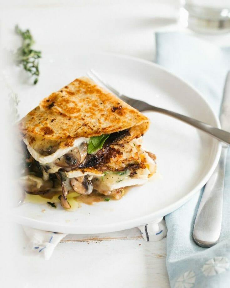 Brie & Mushroom Quesadilla