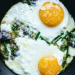 Eggs with Chive Blossoms | A Couple Cooks