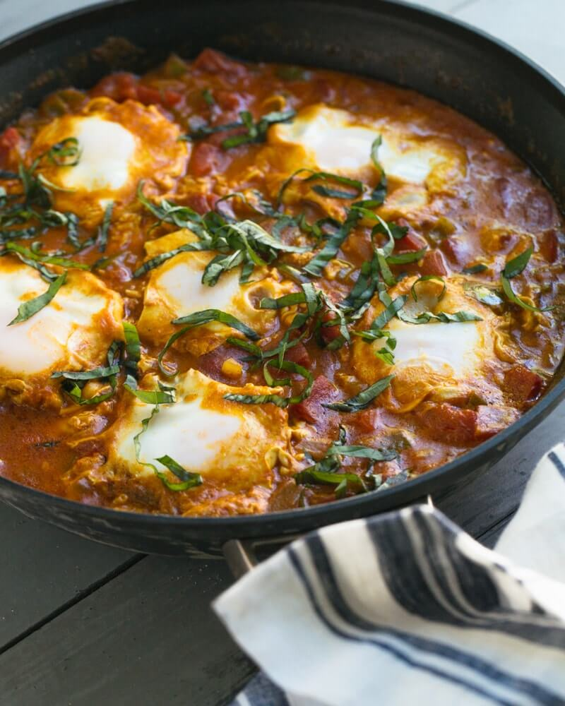 Coconut curry easy shakshuka recipe