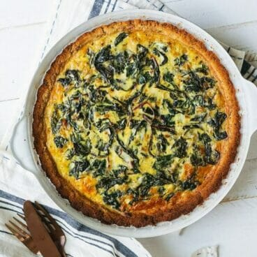 Chard Quiche with Almond Crust | A Couple Cooks
