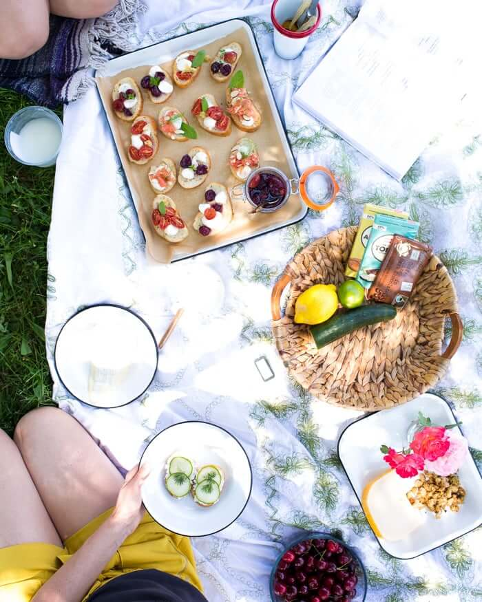 Vegetarian summer picnic