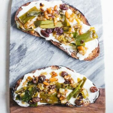 Agrodolce Scallions & Whipped Ricotta Toast