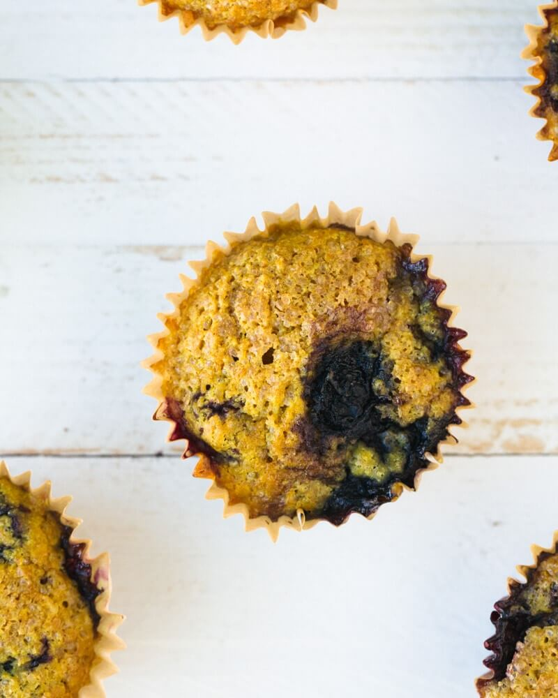 vegan Blueberry Muffins | A Couple Cooks