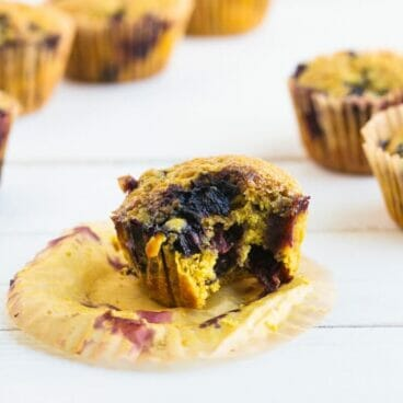 Turmeric Coconut Oil Blueberry Muffins   A Couple Cooks
