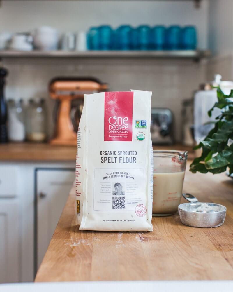 Flour in kitchen