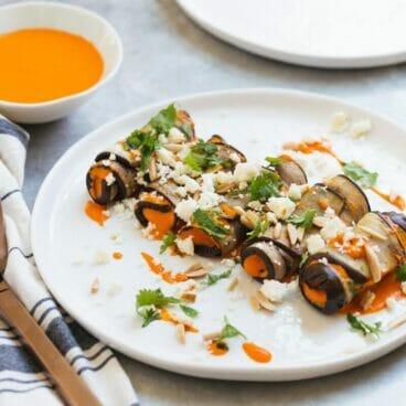 Eggplant Involtini with Spanish Mojo Sauce | A Couple Cooks