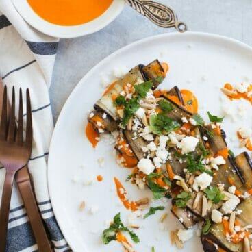 Eggplant Involtini with Spanish Mojo Sauce   A Couple Cooks