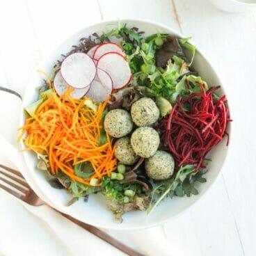 Raw Falafel Buddha Bowls | A Couple Cooks