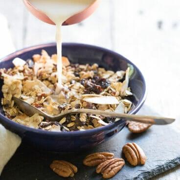 Cinnamon Pecan Homemade Breakfast Cereal | A Couple Cooks